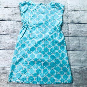 Hanna Andersson Girls Blue Floral Button Dress 130